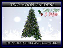 Twinkling Christmas Tree - Blue*