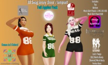 MHC_88 Swag Jersey Dress~Full Appliers Pack