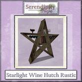 Serendpity Designs - Starlight Wine Hutch - Rustic