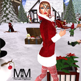 M&M DEMO MESH CHRISTMAS COAT