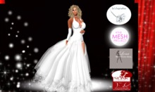 Lo's Snow Flake Gown TMP, SLINK, LENA APPLIERS