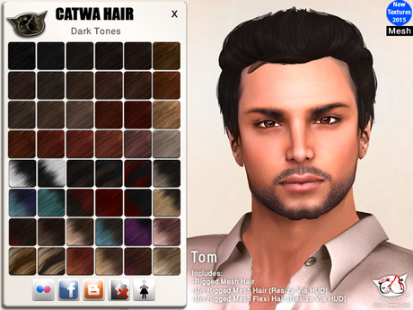 CATWA HAIR Tom [Darks]