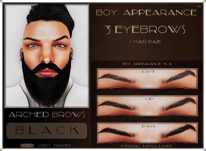 .:BA:. Eyebrow Arched Black