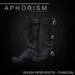 Aphorism rr boots charcoal ad