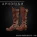 !APHORISM! ROUGH RIDER BOOTS TAN BOXED
