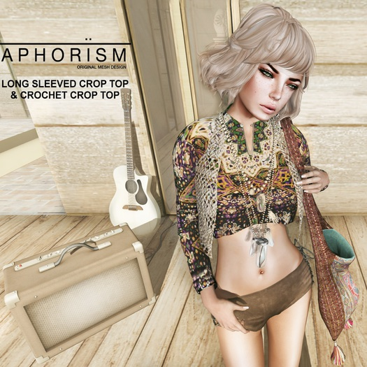 !APHORISM! Crochet Top - Taupe