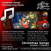 Christmas Songs Vol 1 - With Radio Player and 9 Christmas Classics - 22 minutes of music - Play Single, All, or Shuffle