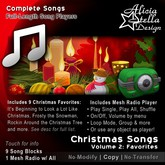 Christmas Songs Vol 2 - With Radio Player and 9 Christmas Favorites - 23 minutes of music - Play Single, All, or Shuffle
