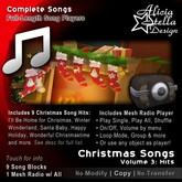 Christmas Songs Vol 3 - With Radio Player and 9 Christmas Hits - 25 minutes of music - Play Single, All, or Shuffle