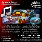 Christmas Songs Vol 4 - With Radio Player and 9 Fun Christmas Songs - 23 minutes of music - Play Single, All, or Shuffle