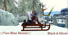 :::TBM::: Fancy Christmas Sleigh- Black & Silver