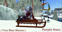:::TBM::: Fancy Christmas Sleigh- Purple Hues