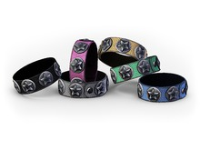 ::OESSO::Women's leather bracelet with metal stars