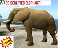 3D MOVING ELEPHANT incl sound.