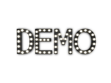 "[Px] ""DEMO"" Illuminated Light Bulbs Sign"