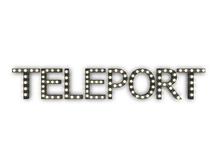 """[Px] """"TELEPORT"""" Illuminated Light Bulbs Sign"""