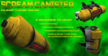 :S.N: Scream Canister Pump tank
