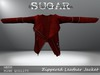 SUGAR - Zippered Leather Jacket - RED