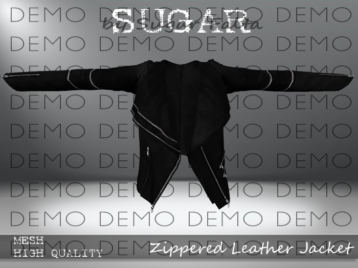 SUGAR - Zippered Leather Jacket - DEMO