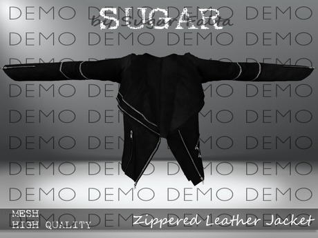 SUGAR - Zippered Leather Jacket - DEMO