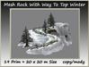Mesh Rock With Way To Top(winter) 19 Prim=20x20m Size copy-mody