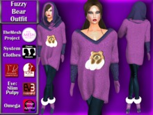 [TKS] Complete -  Fuzzy Bear Outfit