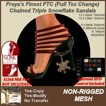 Freya's Finest MESH SLink MID FTC Triple Snowflake Shoes