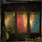 =Mirage= Scroll Wall Hanging - Metal Moods