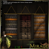 =Mirage= Scroll Wall Hanging - Africa Tribal