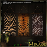 =Mirage= Scroll Wall Hanging - African Pelts