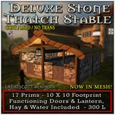 DELUXE STONE STABLE from Castle Clan - Mesh Castles & Cottages