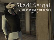 Skadi Sergal - Vest and Dress Shirt with tie