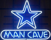 Flashing Neon Texture  Man Cave Sign