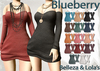 Blueberry rox sweater dresses with armwarmers