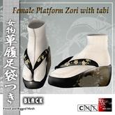 ~Ss~Female Platform Zori with Tabi - black