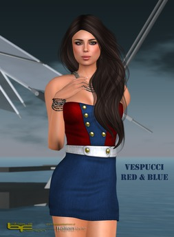 Babele Fashion :: Vespucci Minidress Red & Blue