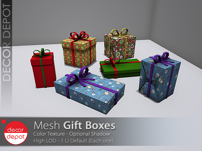 [DD] - FULL PERM Gift Boxes  - 50 % OFF -