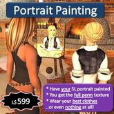 Portrait Painting in Second Life - Gift Voucher