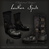 [DDD] Leather Spat Boots - Black
