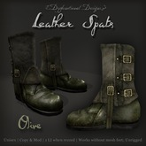 [DDD] Leather Spat Boots - Olive