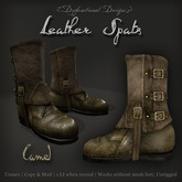 [DDD] Leather Spat Boots - Camel