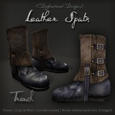 [DDD] Leather Spat Boots - Trench
