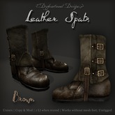 [DDD] Leather Spat Boots - Brown