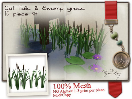 -W-[ Cat tails & Swamp grass ] Spring 100% Mesh  (mod/copy)