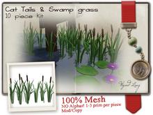 -W-[ Cat tails & Swamp grass ] Spring 100% Mesh  (mod/copy)