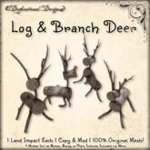 [DDD] Log & Branch Deer Set