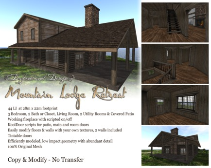 [DDD] Mountain Lodge Retreat Home