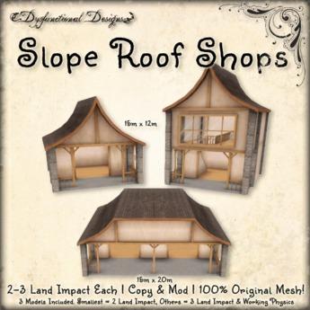 [DDD] Slope Roof Shops