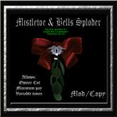 Mistletoe Bow & Bells Sploder