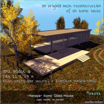 -Hanaya- Iconic Glass House [mesh]